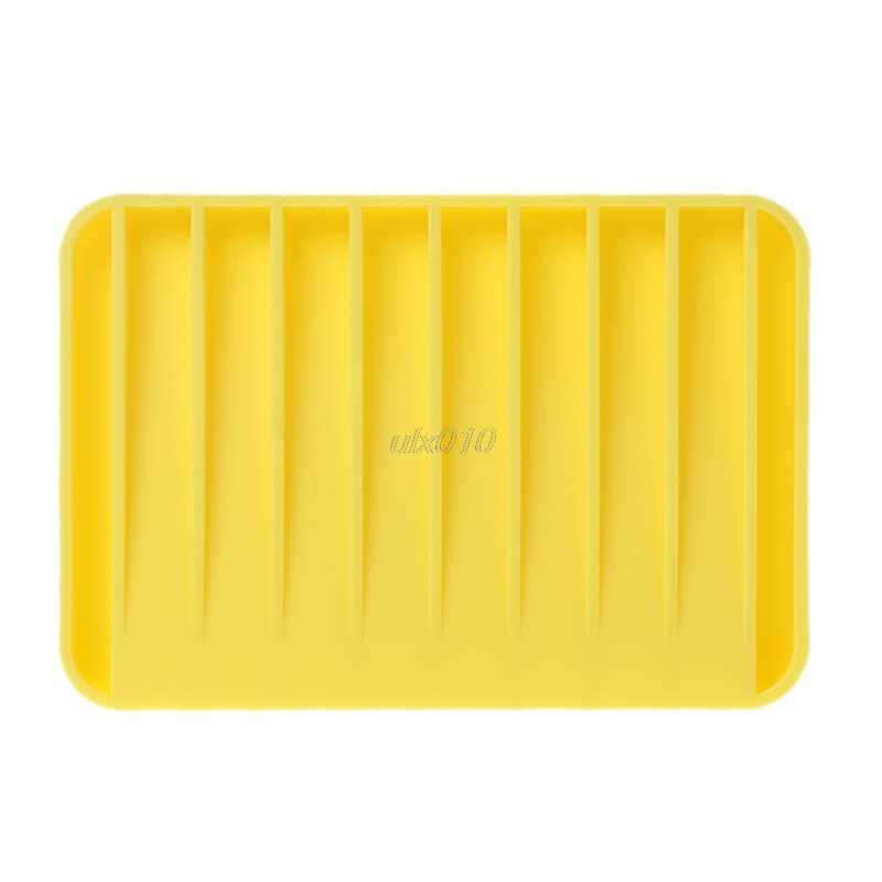 סיליקון בית אמבטיה אסלה גמיש סבון מחזיק צלחת צלחת מגש סבוניה 11.5x8x1cm יולי סיטונאי & dropShip