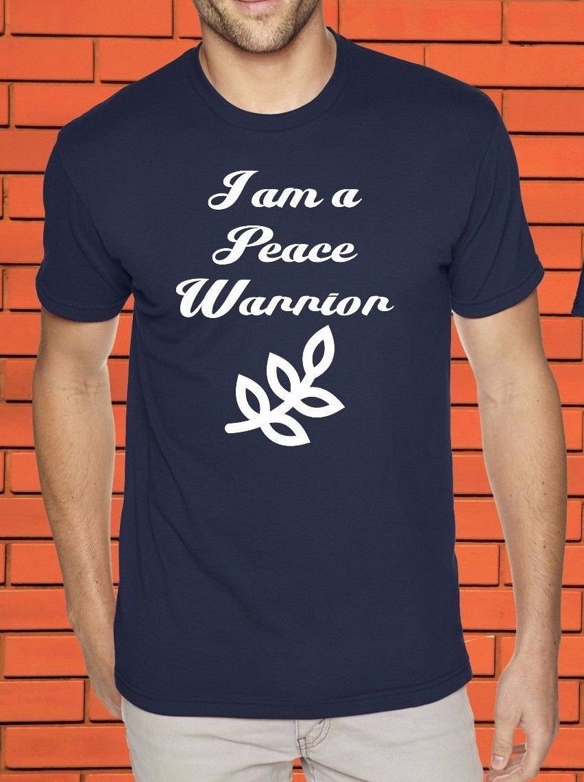 Peace Warrior Spiritual Inspiration Christian Prayer Faith Rosary T Shirt