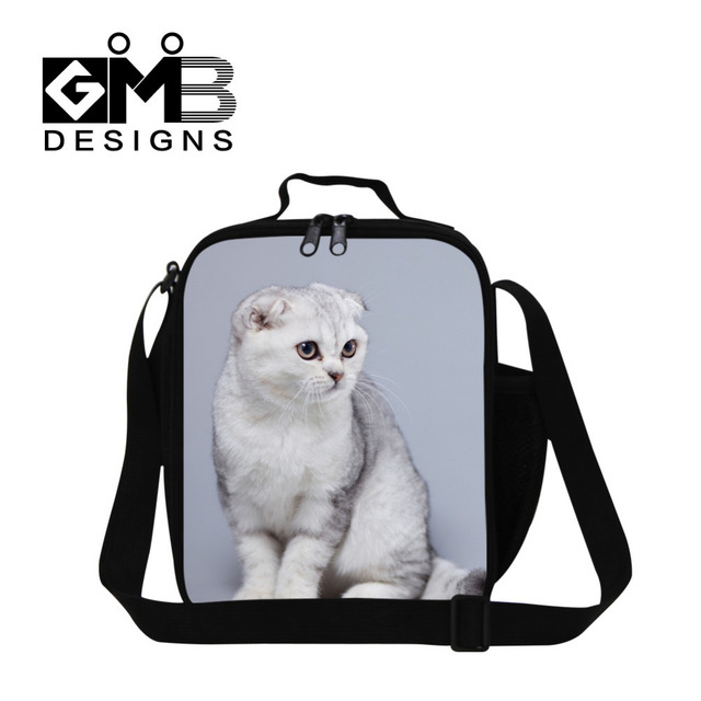 Dispalang Design Animal Lunch Bags For Children Picnic Food Bag Cute Cat Shoulder Lunchbox Kids Insulated Students Lunch Box