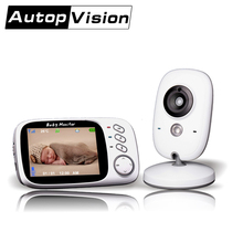 VB603 5PCS/lot Wireless 3.2 inch Wireless Baby Monitor 2 Way Audio IR Built-in Lullabies Portable Baby camera