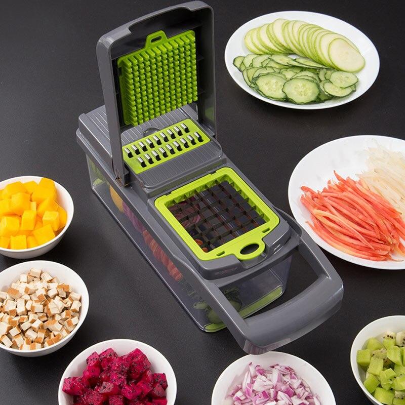 Mise à niveau multifonction coupe-légumes Gadgets de cuisine ail presse lame en acier pomme de terre éplucheur carotte râpe accessoires de cuisine 5