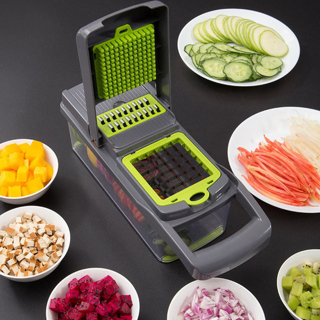 8In1Multifunctional Vegetable Cutter Potato Slicer Carrot Grater Kitchen Accessories Gadgets Steel Blade Kitchen Tool овощерезка 6