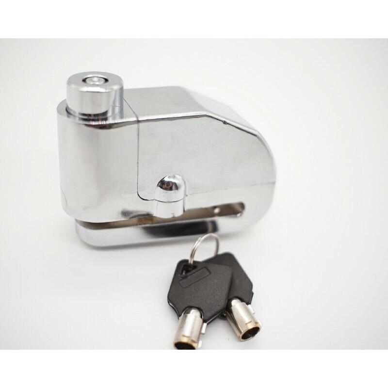 Motorcycle Universal Silver Electroplating Lock Moto Disc Alarm Lock Scooter Bicycle Disk Brake Lock Security Anti-theft Alarm