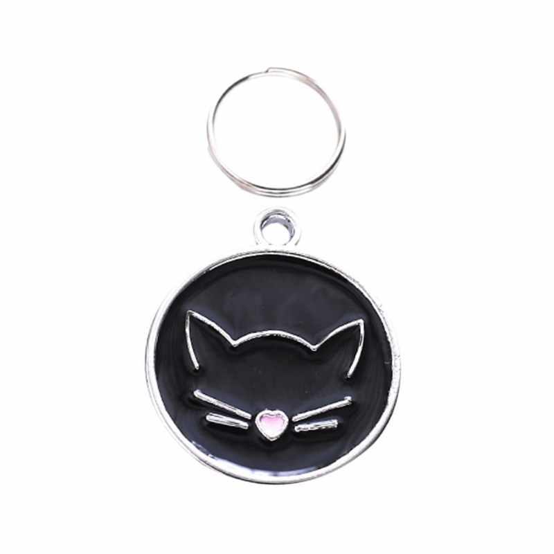 Gatti Tag Gatto Collare di Fissaggio Appeso Ornamento Gatto ID Tag Per Informazioni Sul Nome Prevenire Perso Collana di Fascino Del Pendente