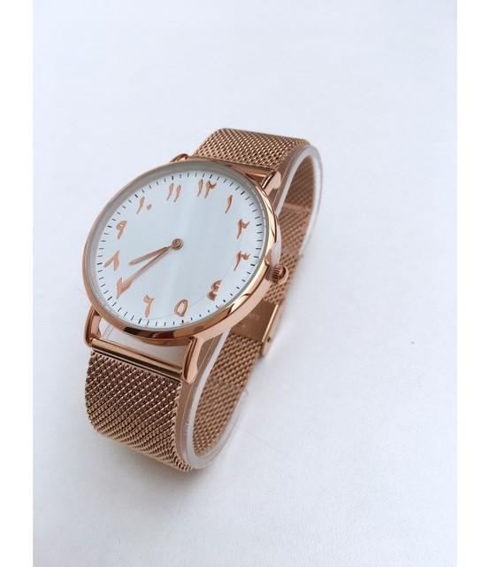 Montres reloj árabe correas de acero inoxidable de malla