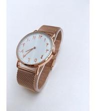 Maille montre montres arabe en acier inoxydable bretelles
