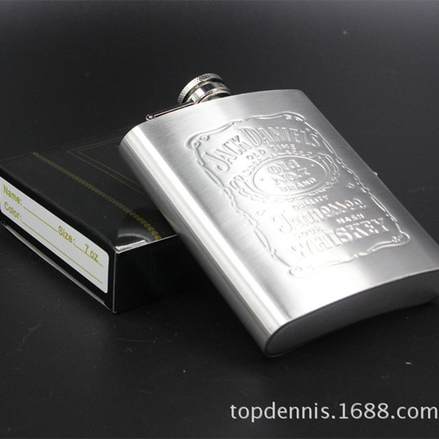 10/7/6/5/4 ounces  capacity stainless steel hip flasks portable carry-on wine bottle alcoholic drunkard essential supplies