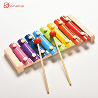 Children Baby Musical Toys Xylophone Wisdom Development Education Wooden Instrument Toy Boy Girl Improve Kid Sensitive