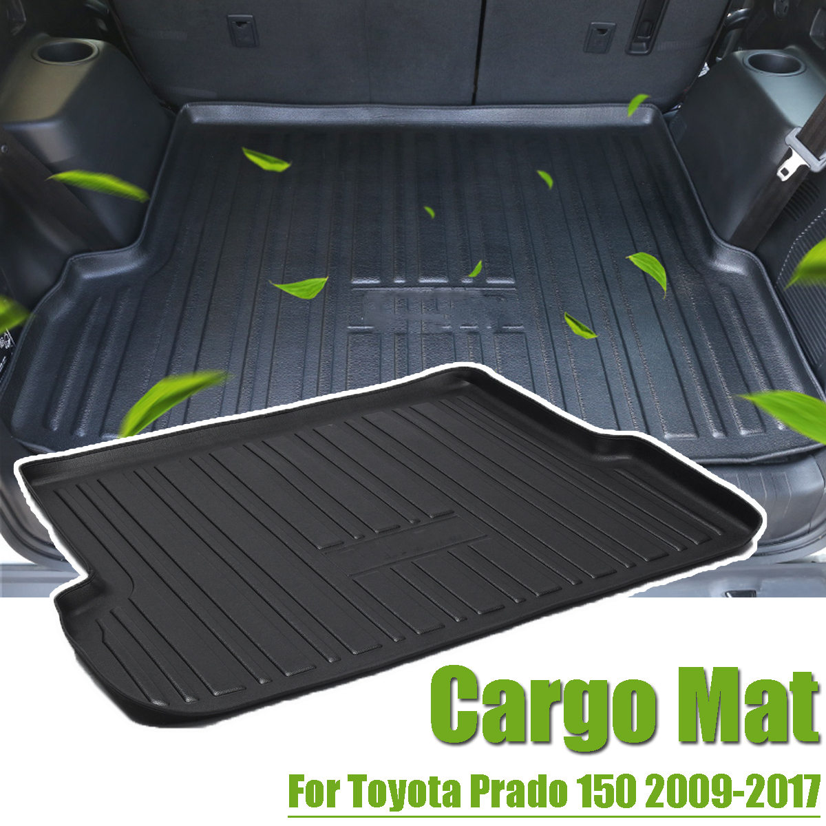 For Toyota Prado 150 2009 2018 Car Rear Boot Liner Trunk Cargo Mat Tray Floor Carpet Mud Pad Protector Interior Accessories