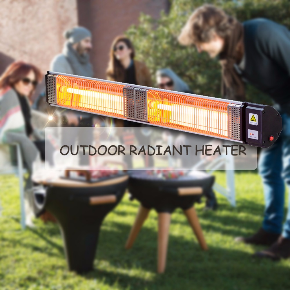2000W Commercial Alfresco Strip Patio Heater Electric Outdoor