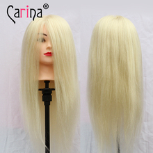 1Pc 90% Real Human Hair Hairdressing Training Head With Clamp Salon Mannequin Head For Hair Styling Mannequins