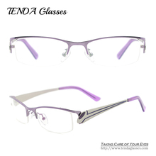 Metal Half Rim Spectacles Women Eyeglass Frames Prescription Glasses For Myopia and Reading Lenses