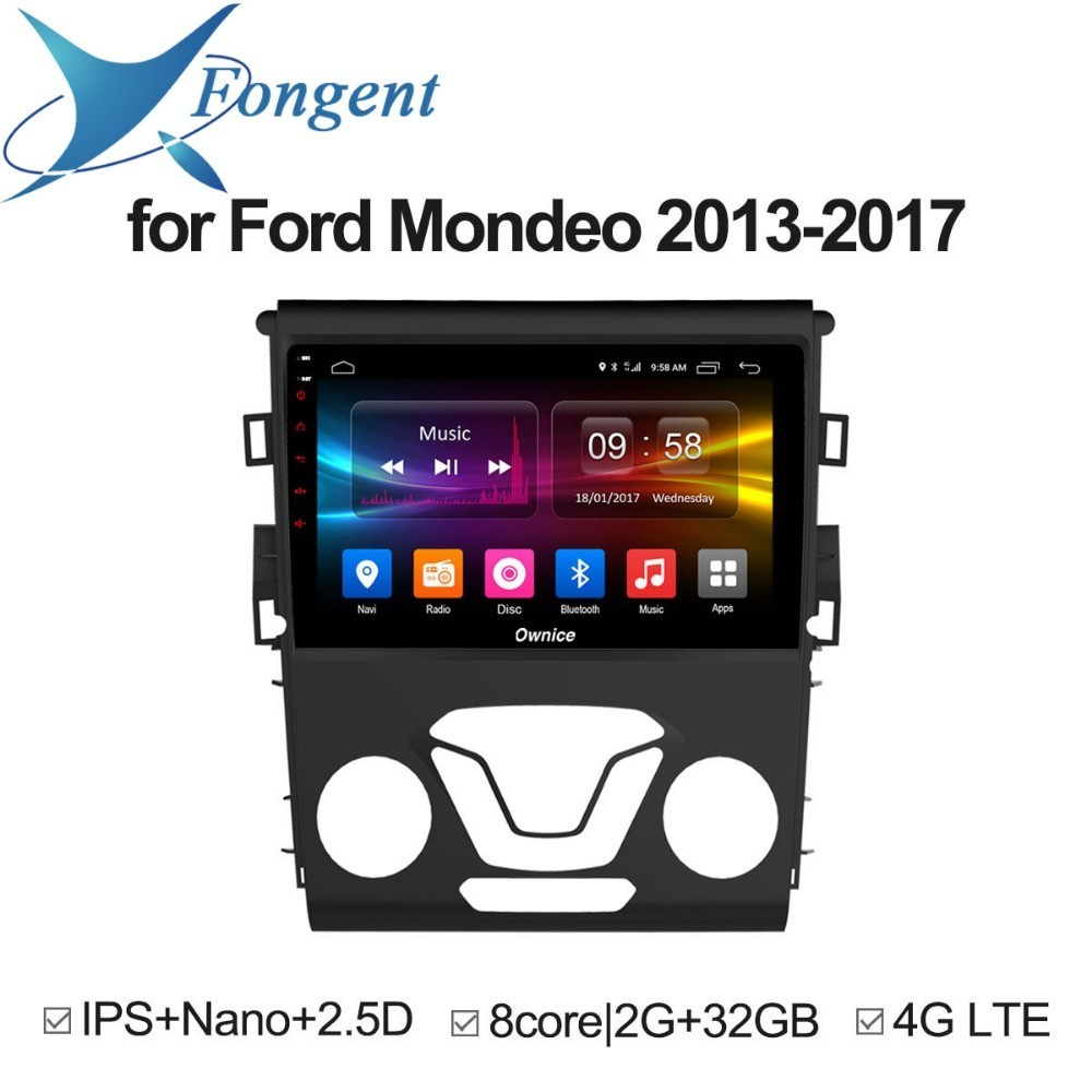 FOR FORD MONDEO 2013 2014 2015 2016 2017 Car audio stereo Android 8.1 Unit Intelligent GPS Navigator DVD Radio Multimedia player for ford focus 3 2012 2013 2014 2015 car android unit 1 din dvd radio stereo audio multimedia video music player gps navigation