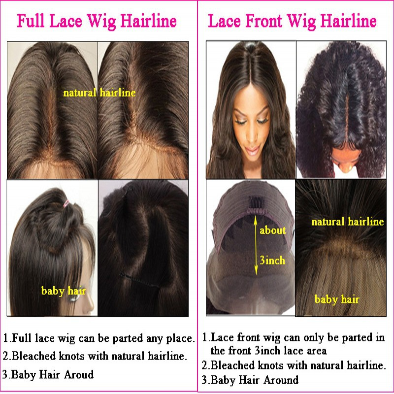 Blend Darkbrown Color Highlight Full Lace Wigs Ombre Human Hair