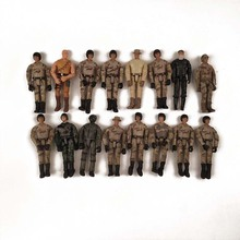 Random 5Pcs/Lot 3.75 1/18 SWAT Black Uniform Military Army Combat Game Toys Soldiers Set SDU SEALs Action Figure Model