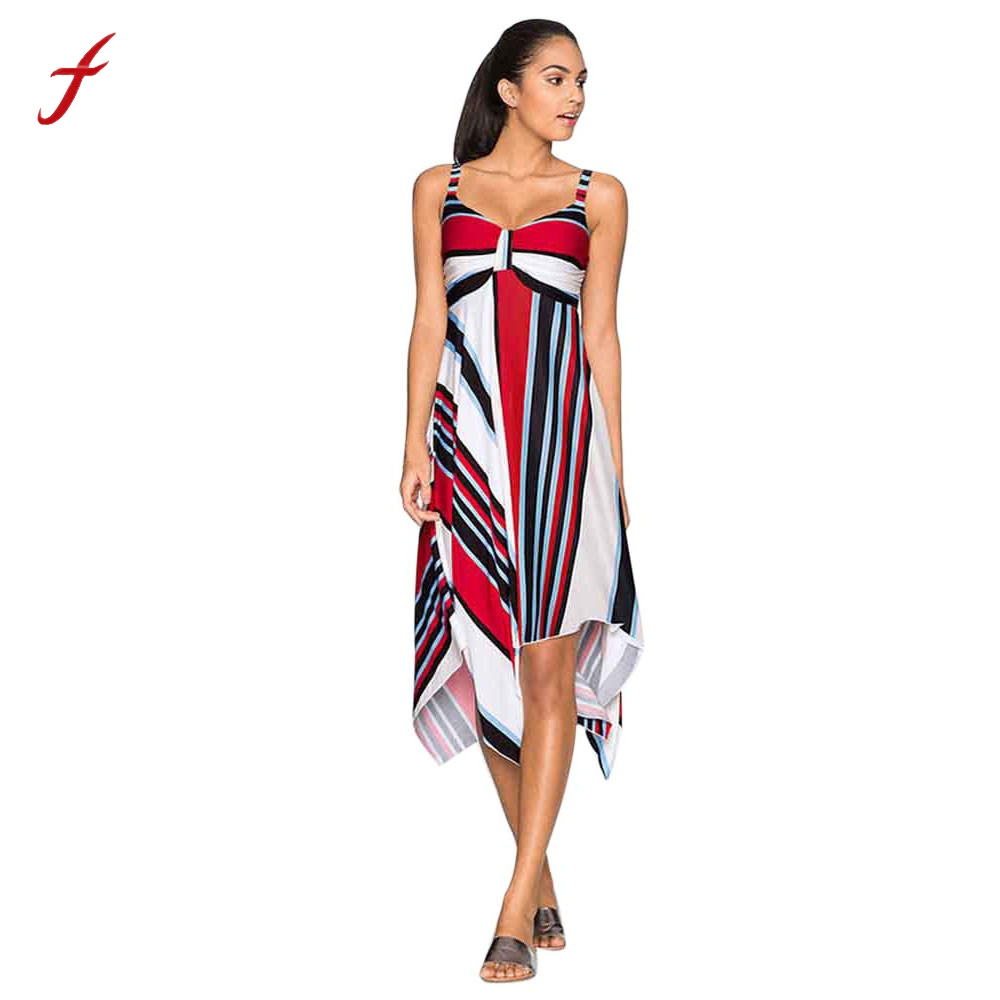 Feitong Damen Sommer Floral Party Urlaub Strand Sundress Langes ...