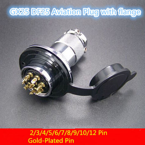 1PCS AP028 GX25 2/3/4/5/6/7/8Pin Male& Female DF25 Wire Cable Panel Connector with flange Aviation Plug Circular Socket Plug M25 1set 4pin professional speaker powercon wire connectors 4 pole plug powercon 4 pin female jack socket panel male