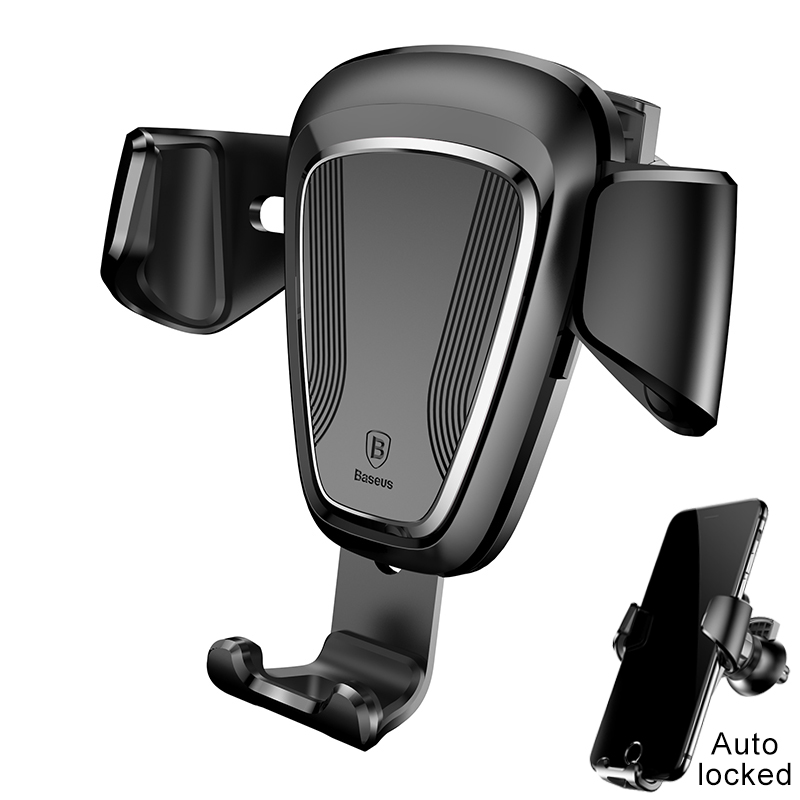 Baseus Gravity Car Holder For iPhone 8 6 Samsung S8 Cell Phone Grip 360 Degree GPS Air Vent Mount Clip Mobile Phone Holder Stand