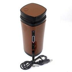 Aquecedor elétrico portátil caneca de café usb máquina de café misturador copo mais quente