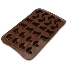 24-Cavity 3D Mini Duck Bear Rabbit Animal Shaped Silicone Cake Fondant DIY Mold Candy Pudding Chocolate Mould Ice Cute Tray