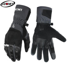 SUOMY Men Motorcycle Gloves Waterproof Moto Gloves Windproof Guantes Touch Screen Motorbike Racing Riding Gloves For Winter недорого