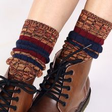 2016 New Autumn Women Socks Cotton Thick Warm Winter Socks Long Solid Loose Piles Of Socks Female Sock Office Dress Socks Free