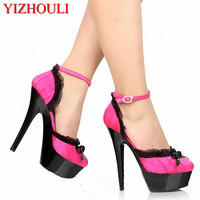 Wholesale 11 Colours Sexy Lace Women 15CM High Heel Shoes, Wedding Shoes, Sexy Party Shoes, Fashion Single Shoes