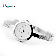 2018 gift Enmex women stainless steel slim strap watch Gloden colour graceful young girl elegant fashion quartz lady watches