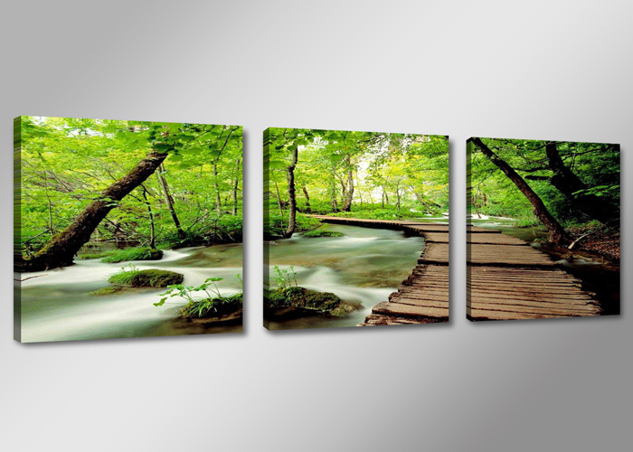 Buy s70777 green woods and stream 3 for Buy large canvas prints