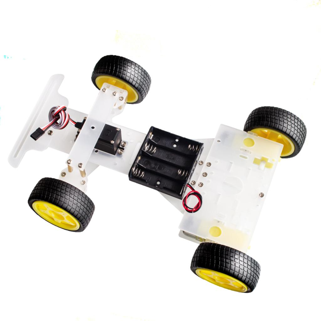 Steering engine 4 wheel 2 Motor Smart Robot Car Chassis kits DIY with 3003Steering engine 4 wheel 2 Motor Smart Robot Car Chassis kits DIY with 3003