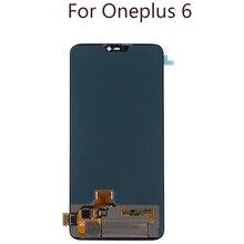 6.28 cala AMOLED dla Oneplus 6 wyświetlacz LCD wymiana ekranu dotykowego zestaw AMOLED oryginalny LCD wyświetlacz 2280*1080 ekranu ze szkła