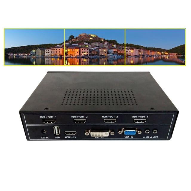 hdmi video wall controller for 1x3 diy tv video wall hdmi ...