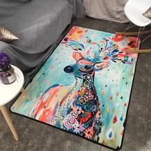 European Style Elk Series Rectangular Large Carpet Living Room Decorative Floor Mat 140CM 200CM fancytrader new style high quality shark 200cm x 140cm huge giant shark bed carpet sofa tatami 2 colors free shipping ft90358