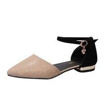 Г., сандалии-гладиаторы Женская летняя обувь Модные женские сандалии с острым носком Повседневные Удобные женские сандалии на плоской подошве