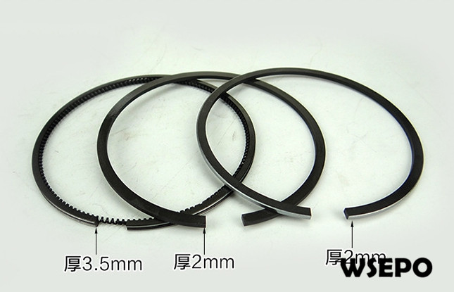 Chongqing Quality! Piston Rings Set for 192F 12HP Air Cooled 04 Stroke Diesel Engine,7.5KW~8KW Generator PartsChongqing Quality! Piston Rings Set for 192F 12HP Air Cooled 04 Stroke Diesel Engine,7.5KW~8KW Generator Parts