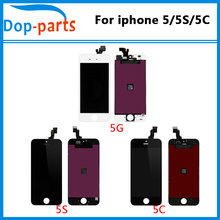 цена на 10pcs Wholesale Mix Model LCD For iPhone 5 For iphone 5C For iphone 5S LCD Display Touch Screen Digitizer Assembly Replacement