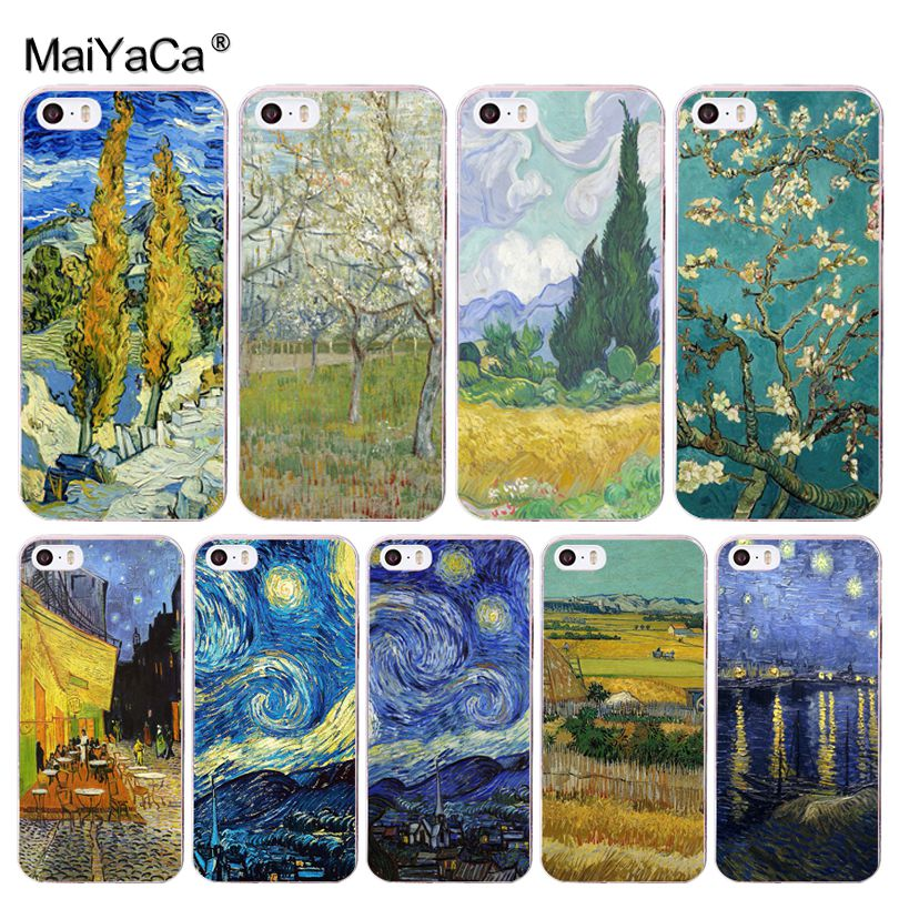 Van Gogh Oil Painting Thin Soft Cell Case For Apple Iphone 8 7 6 6S Plus X 5 5S SE XR XS XS MAX Cellphones