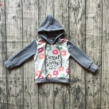 mom and me hoodie outfits baby girls hoodie clothes children milk silk boutique hoodie Dunat be happy grey long sleeve hoodie