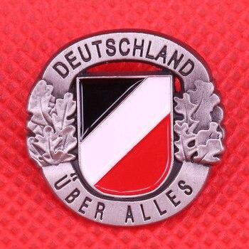 Немецкая булавка для флага дубовая брошка в виде листьев Винтажный серебряный черный значок deutschland ювелирные изделия для мужчин подарок Патриот