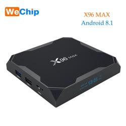 Smart 4K BOX Android 8.1 4G 64G TV BOX Amlogic S905X2 LPDDR4 2.4G&5GHz Dual Wifi Blustooth 1000M LAN Support IPTV Ott Player