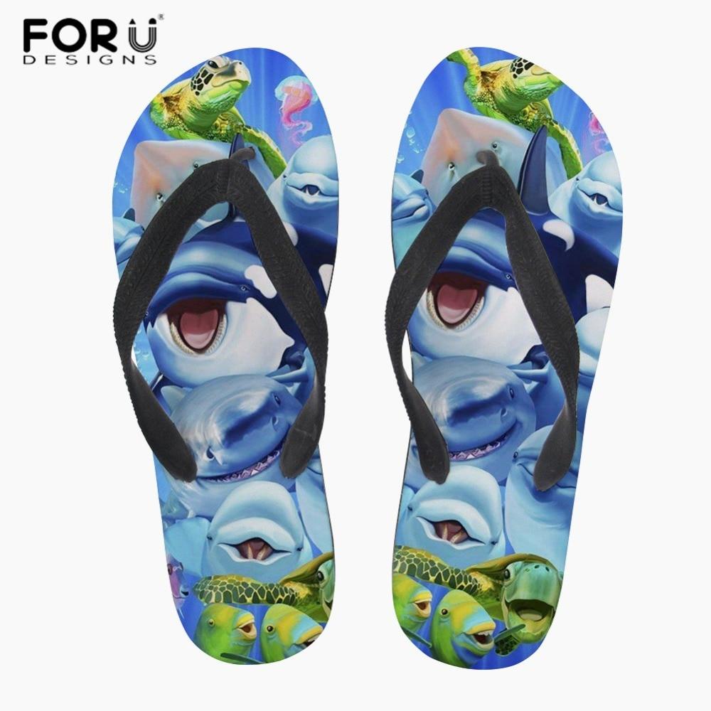 Other Official Website Forudesigns Cartoon Dolphin Print Mens Flip Flops Summer Beach Slippers Male Flat Anti-slip House Flipflops Zapatos De Hombre