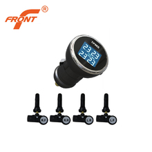 Wireless Tire Pressure Monitoring System TPMS For Car Internal Sensors Intelligent Induction Four Round At The Same Time Display