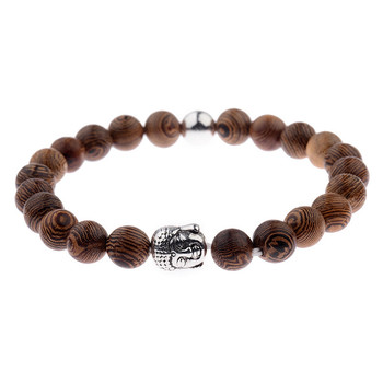 Elastic Natural Wood Beads Bracelet Bracelets Jewelry New Arrivals Women Jewelry Metal Color: 007-2