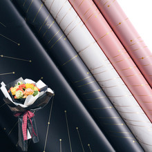 10 шт. Золотая декоративная лента крафт бумага цветок оберточная бумага водонепроницаемый подарок упаковочная бумага Декоративный букет оберточная бумага
