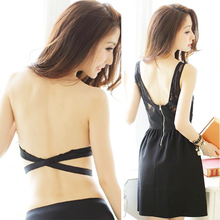 Deep U Low Cut Push Up Backless Bra