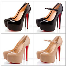big size 34-40 Hot 2014 fashion red bottom platform lady ultra high heels woman pumps and women's summer autumn shoes
