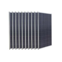 Solar Home System 1KW 1000w Solar PV Panel 12v 100w 10Pcs Solar Charge Battery Off Gird Marine Yacht Boat Motorhome Caravan Car