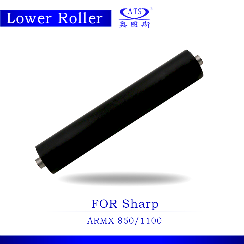 1PCS AR850 AR1100 Photocopy Machine Lower Pressure Fuser Roller For MX 850 1100 Copier Parts MX850 MX1100 pressure roller for lexmark w840 850 x850 x860 x864 5500