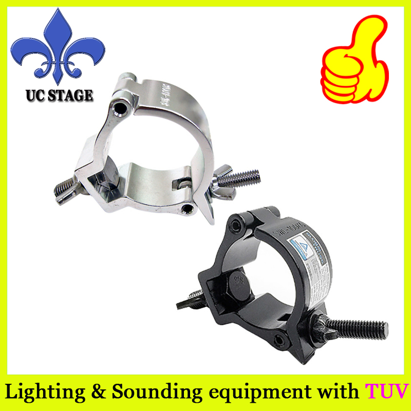 heavy loading aluminum black truss clamp for light and truss 40mm pipe 290mm aluminum stage truss structure event lighting spigot truss with black coated