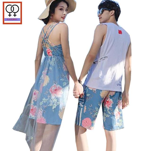 Matching Couple Clothes Summer Lovers Backless Beach Honeymoon